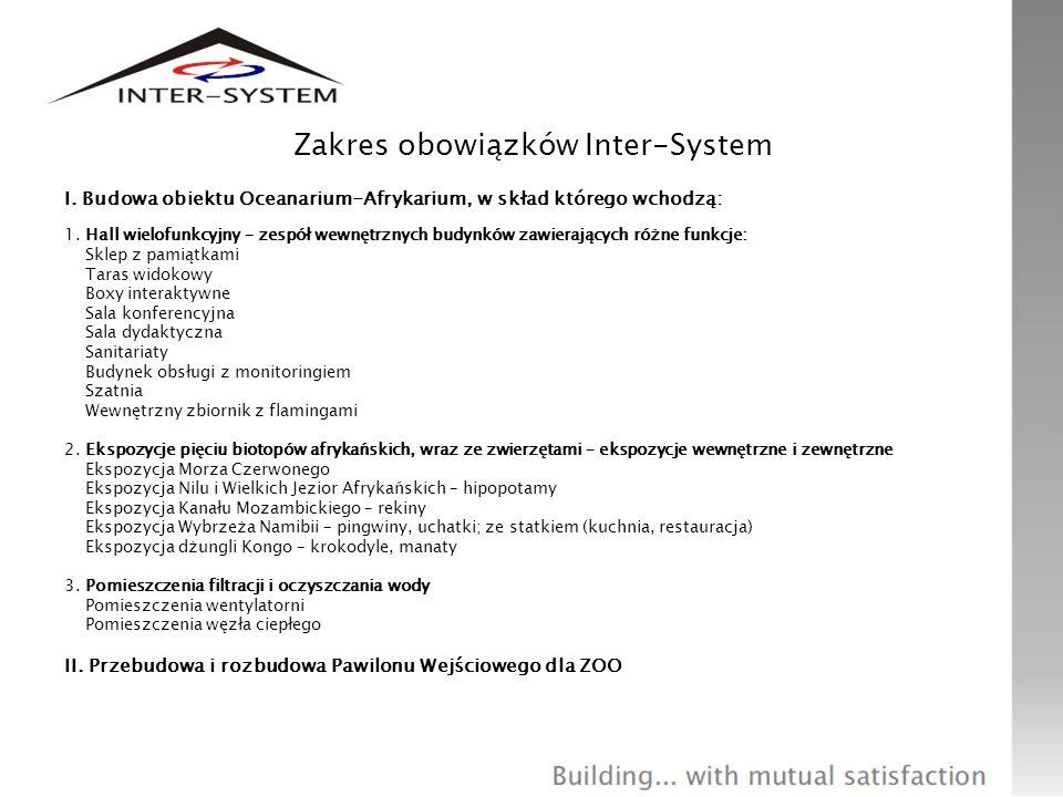 Zakres obowiązków Inter-System