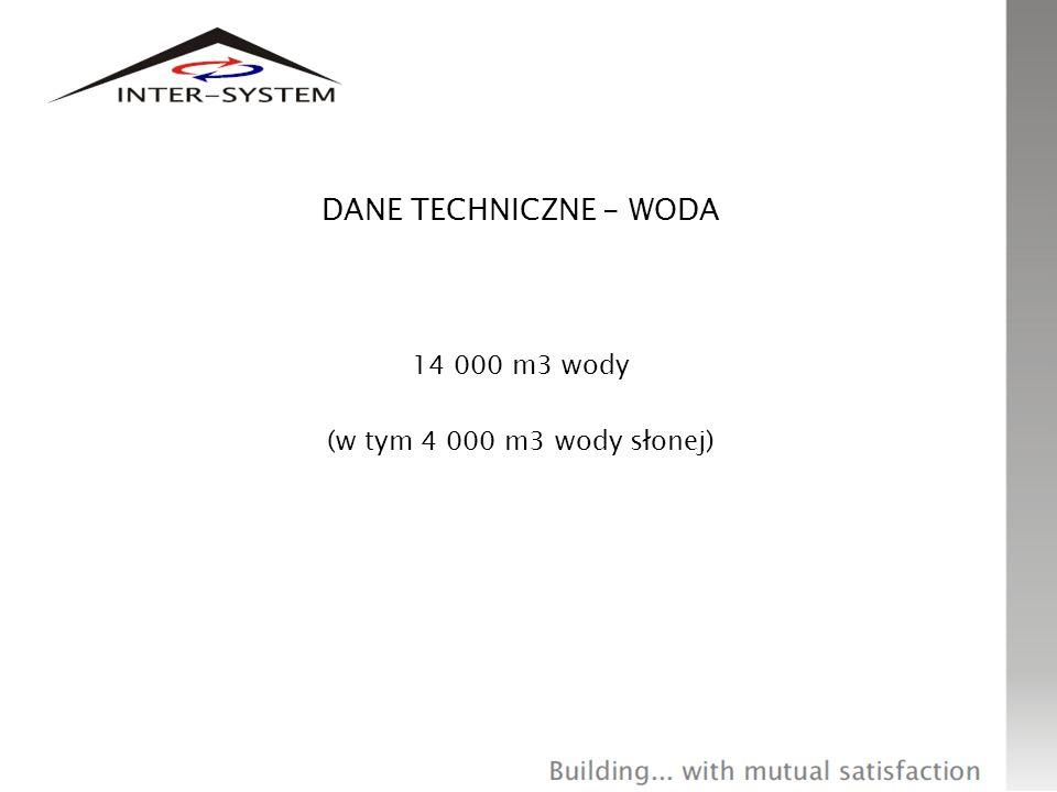 14 000 m3 wody (w tym 4 000 m3 wody słonej)