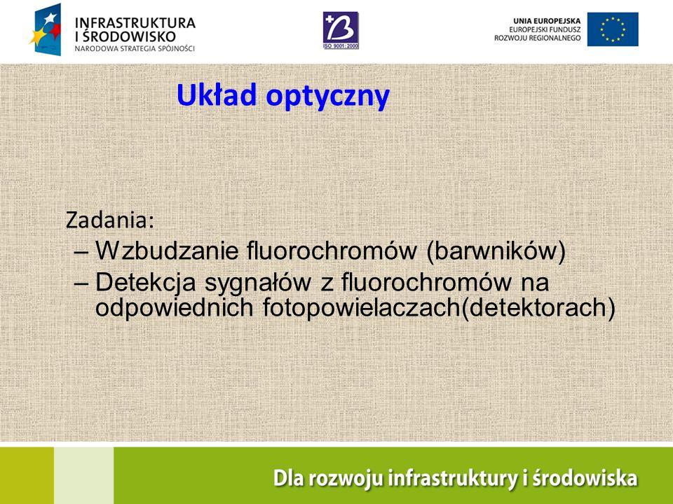 Układ optyczny Zadania: Wzbudzanie fluorochromów (barwników)