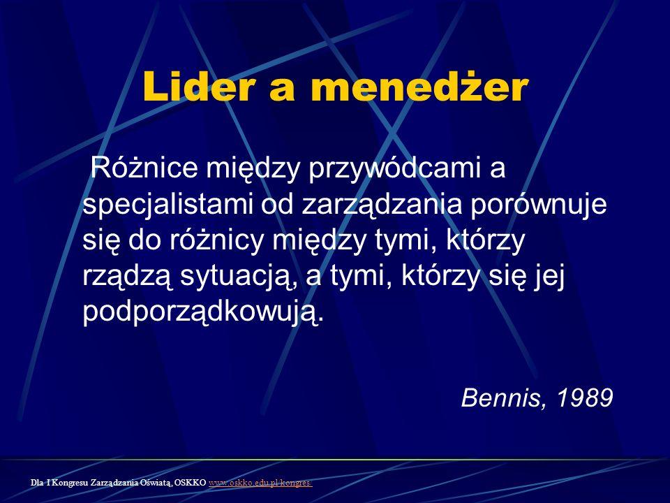 Lider a menedżer