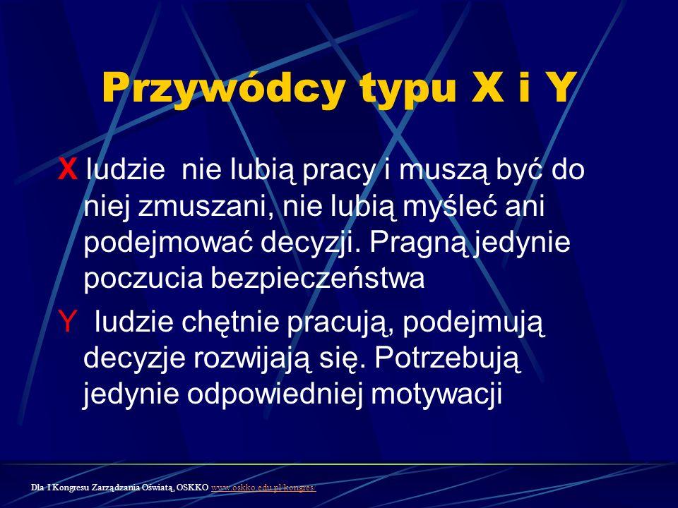 Przywódcy typu X i Y