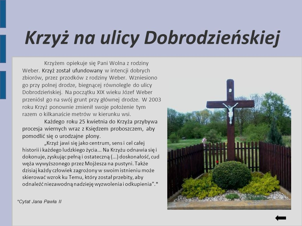 Krzyż na ulicy Dobrodzieńskiej