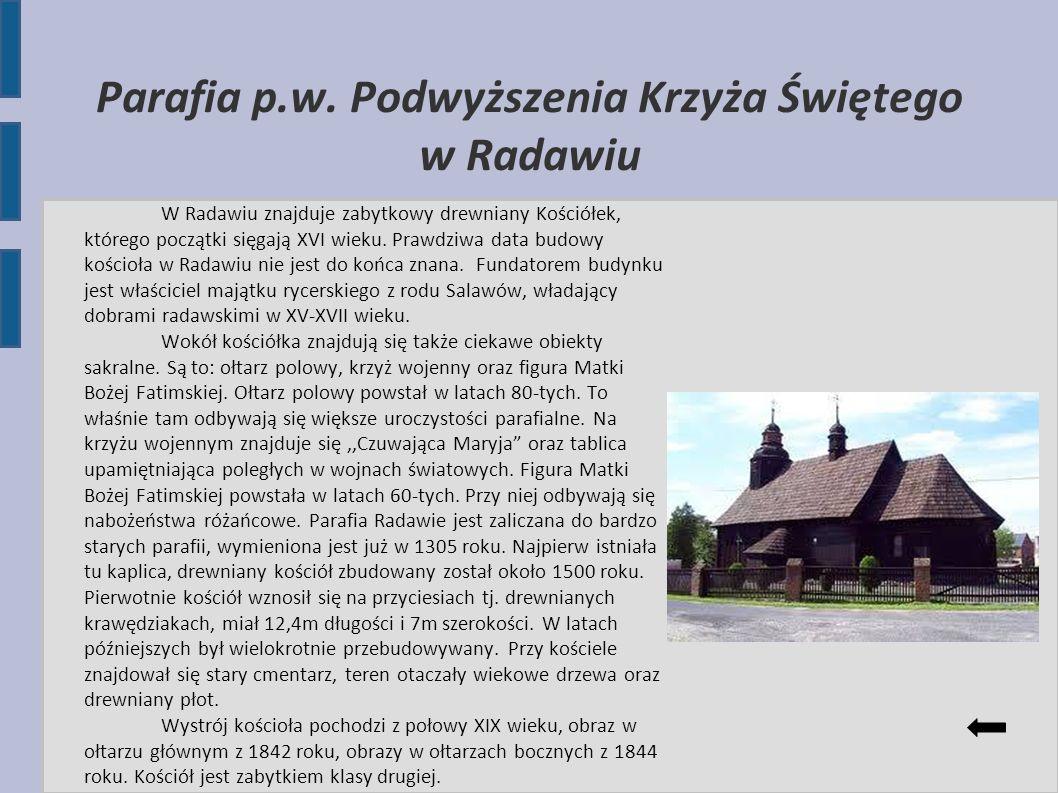 Parafia p.w. Podwyższenia Krzyża Świętego w Radawiu