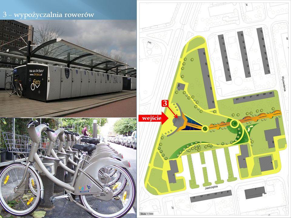 3 – wypożyczalnia rowerów