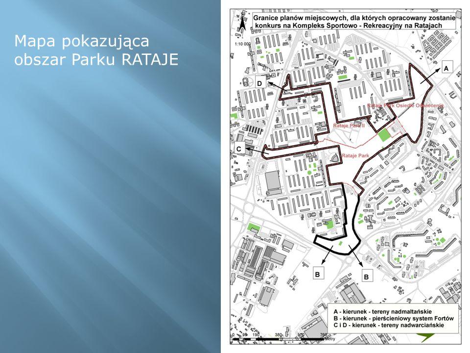 Mapa pokazująca obszar Parku RATAJE