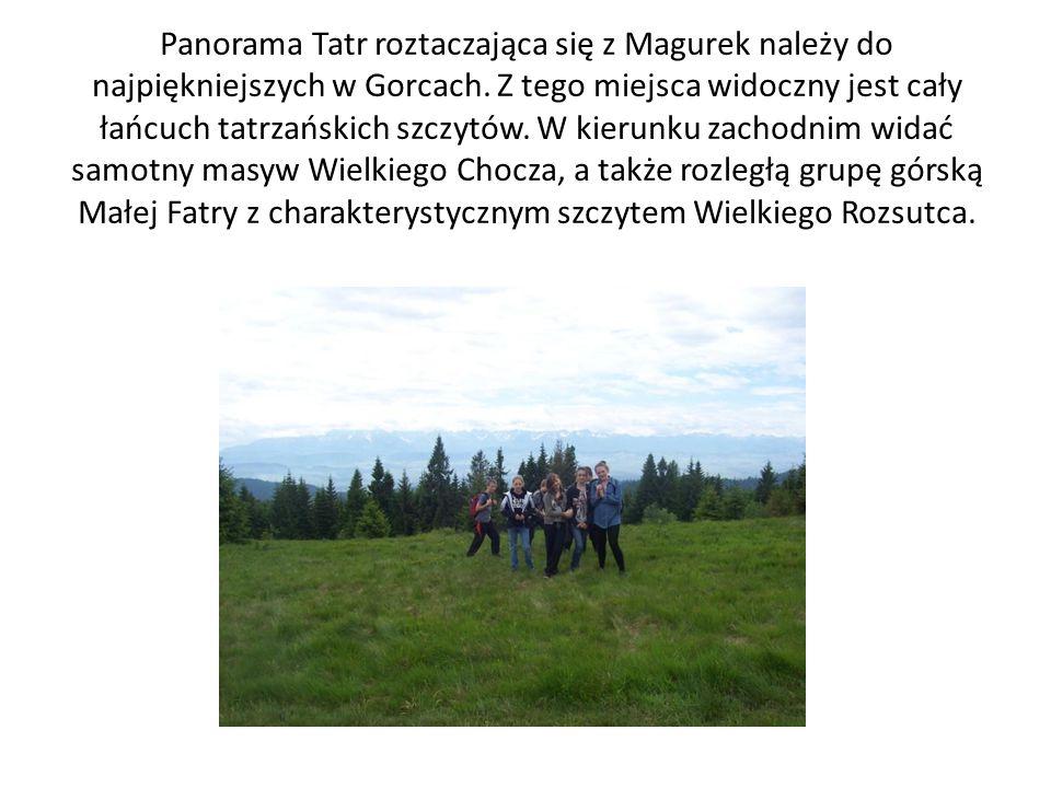 Panorama Tatr roztaczająca się z Magurek należy do najpiękniejszych w Gorcach.