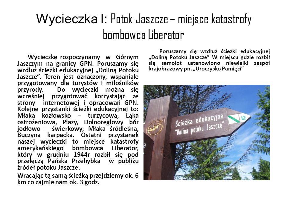 Wycieczka I: Potok Jaszcze – miejsce katastrofy bombowca Liberator