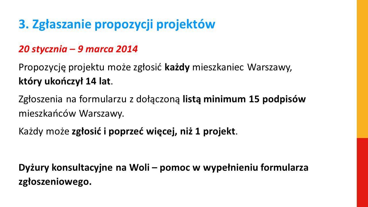 3. Zgłaszanie propozycji projektów