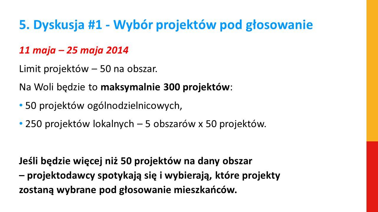 5. Dyskusja #1 - Wybór projektów pod głosowanie
