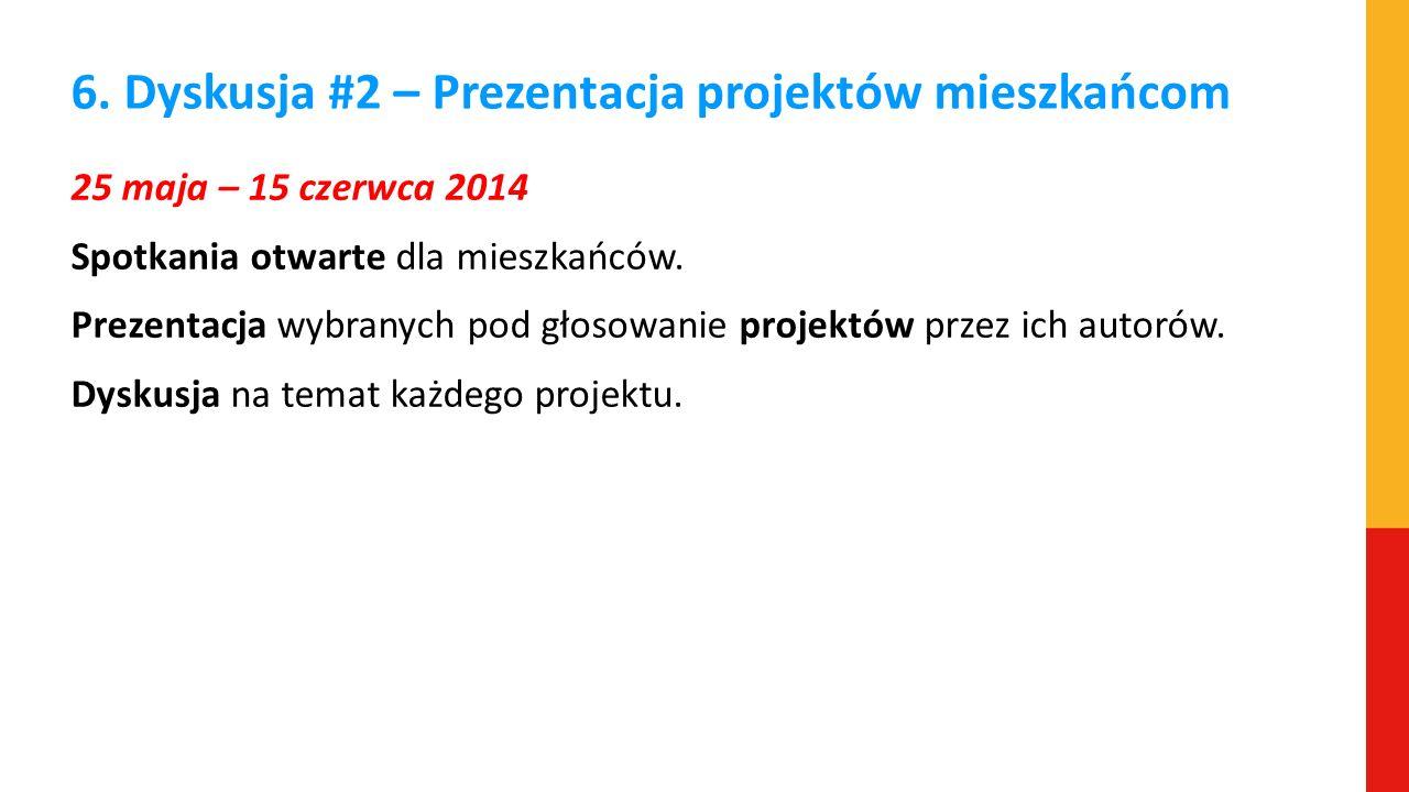 6. Dyskusja #2 – Prezentacja projektów mieszkańcom