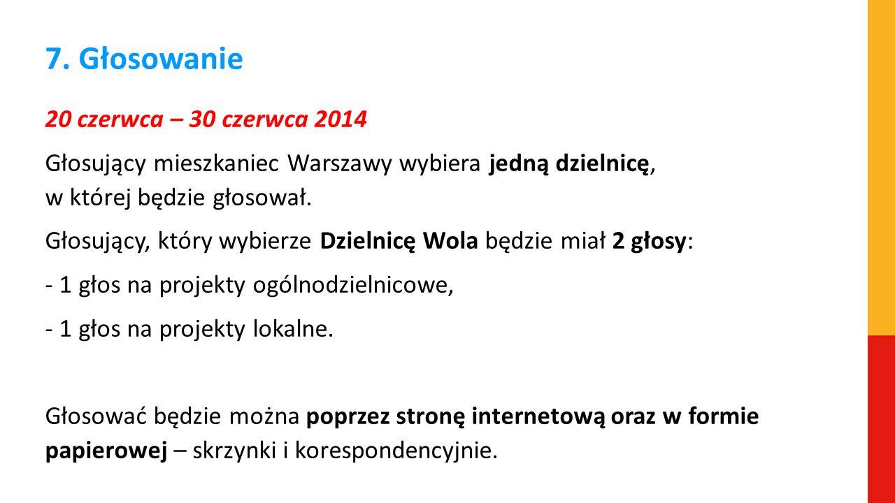 7. Głosowanie 20 czerwca – 30 czerwca 2014