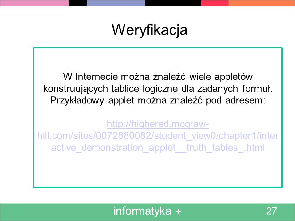 Weryfikacja informatyka +