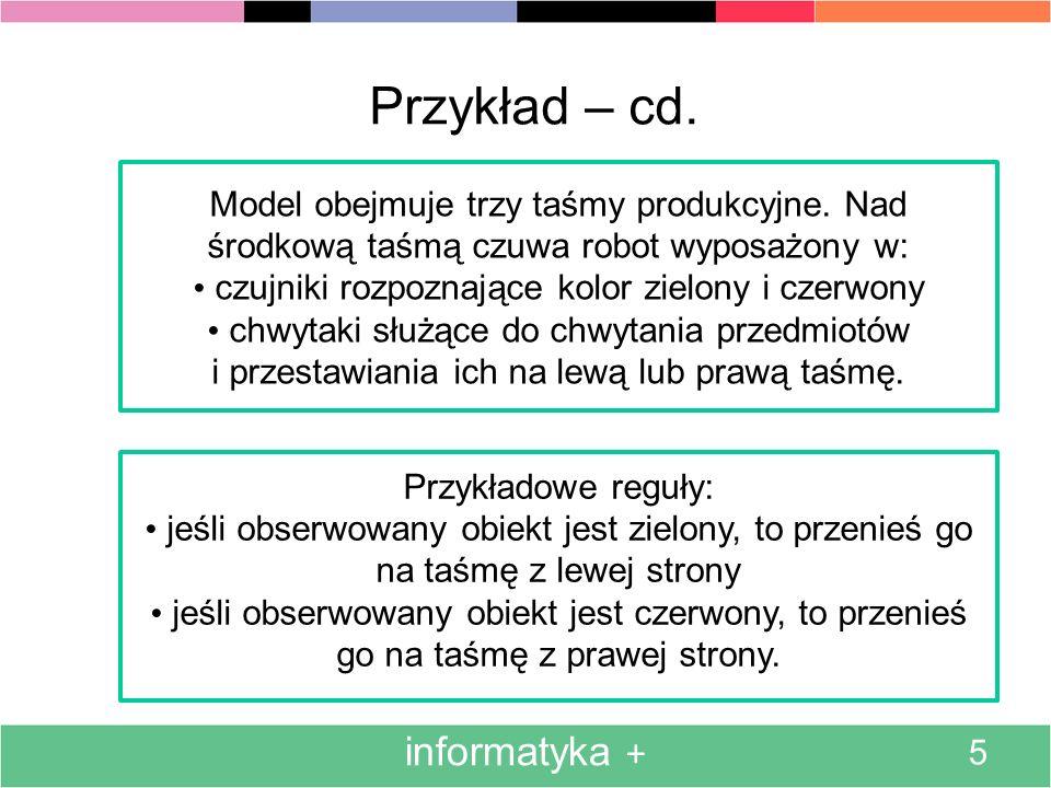 Przykład – cd. informatyka +