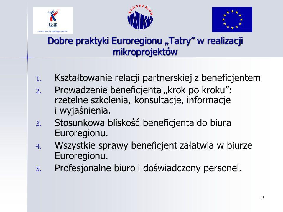 """Dobre praktyki Euroregionu """"Tatry w realizacji mikroprojektów"""