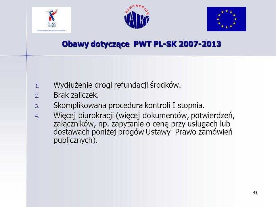 Obawy dotyczące PWT PL-SK 2007-2013