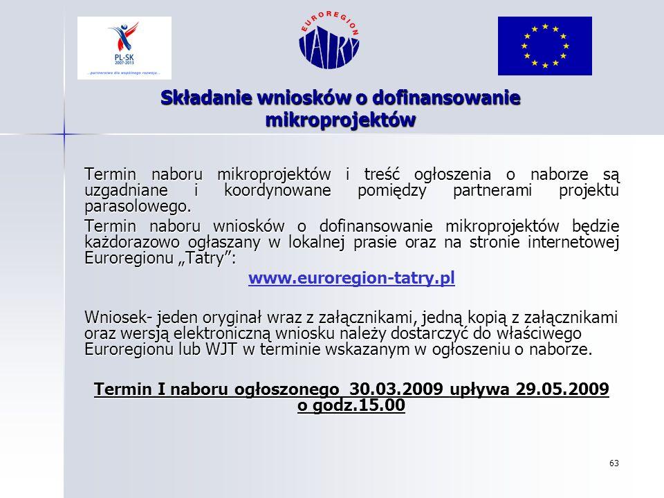 Składanie wniosków o dofinansowanie mikroprojektów