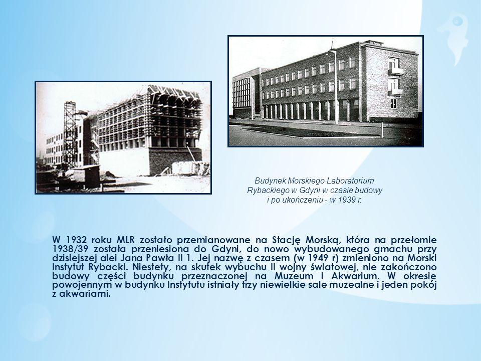 Budynek Morskiego Laboratorium Rybackiego w Gdyni w czasie budowy i po ukończeniu - w 1939 r.