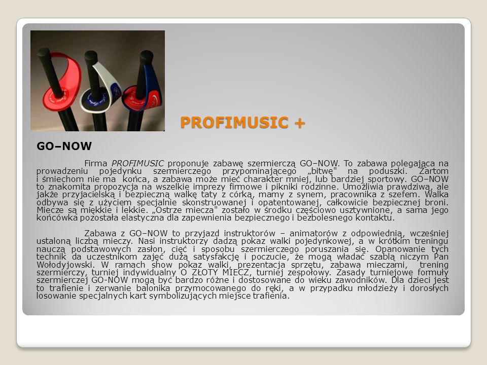 PROFIMUSIC + GO–NOW.