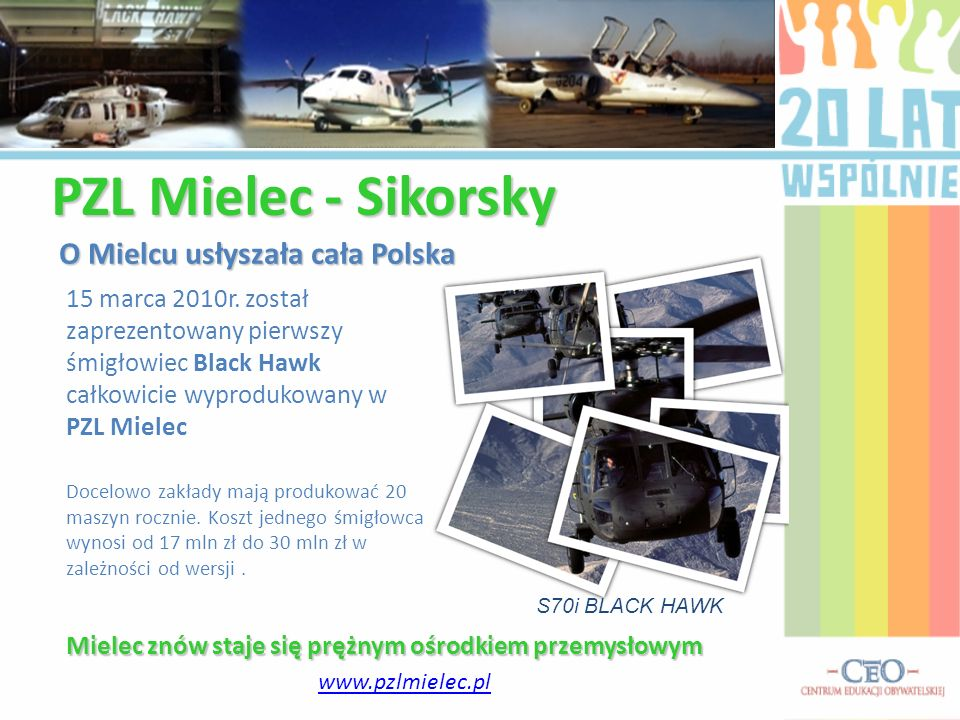 PZL Mielec - Sikorsky O Mielcu usłyszała cała Polska