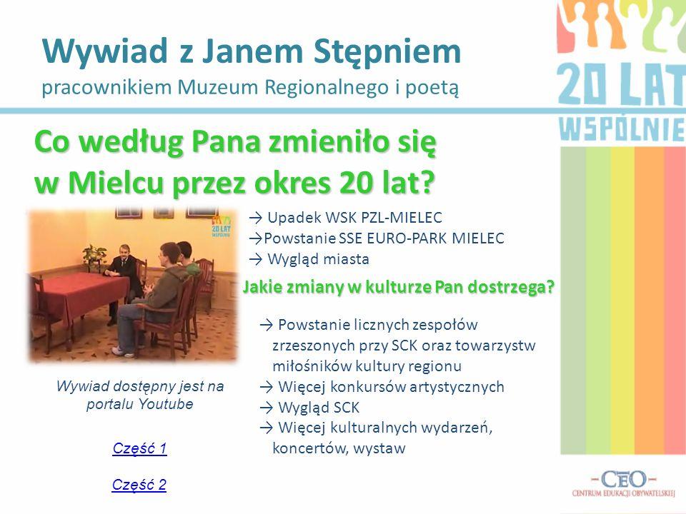 Wywiad z Janem Stępniem pracownikiem Muzeum Regionalnego i poetą