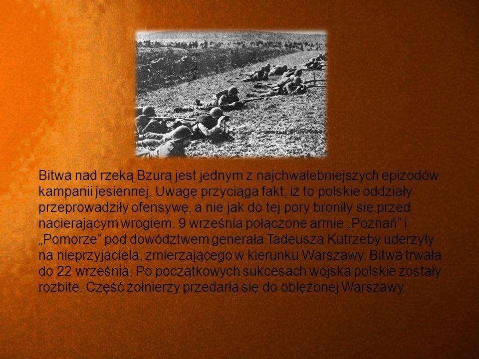 Bitwa nad rzeką Bzurą jest jednym z najchwalebniejszych epizodów kampanii jesiennej.