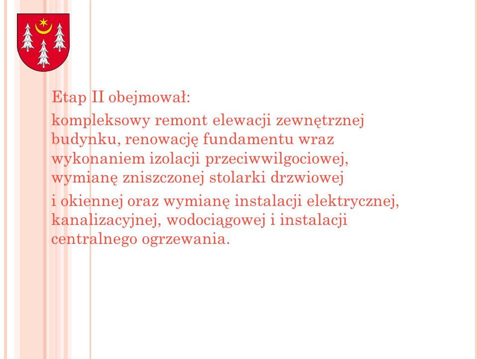 Etap II obejmował: