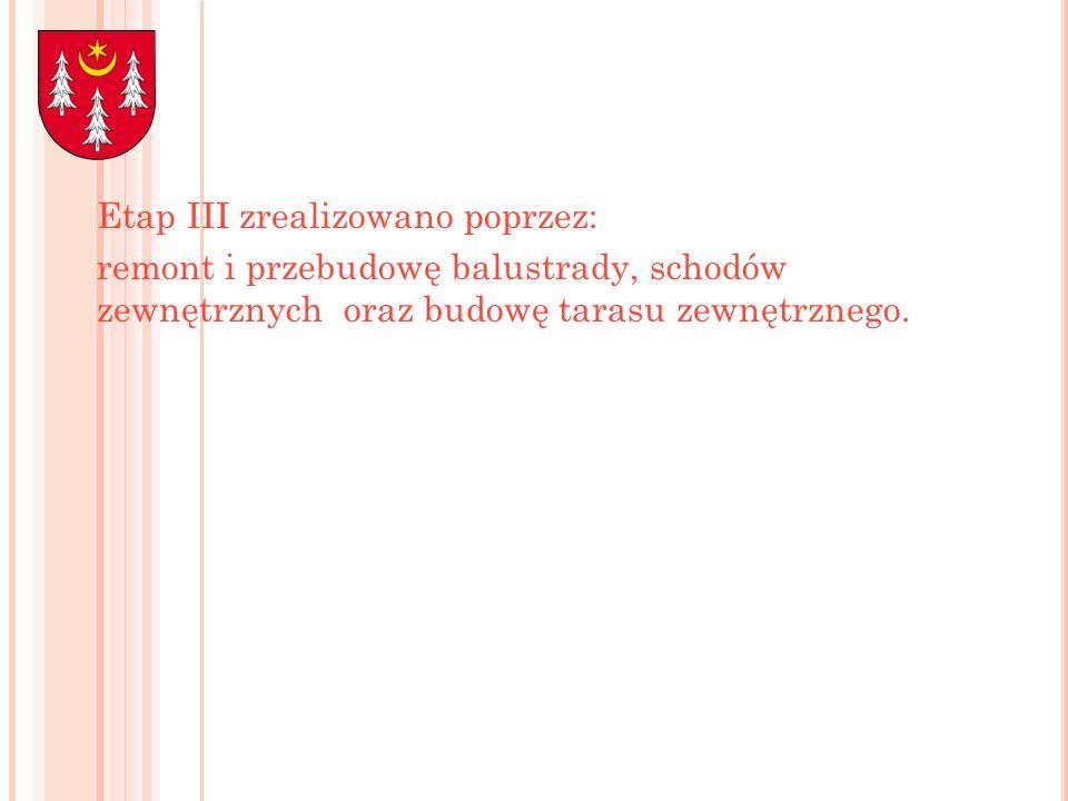 Etap III zrealizowano poprzez: