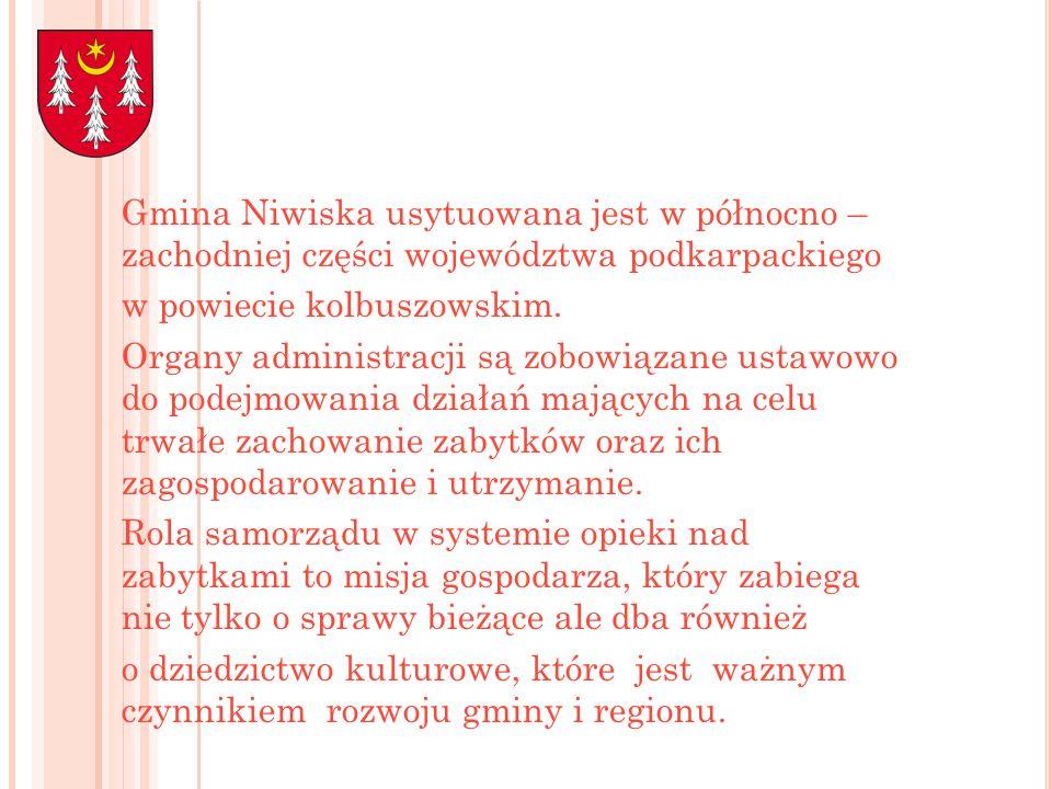 Gmina Niwiska usytuowana jest w północno – zachodniej części województwa podkarpackiego