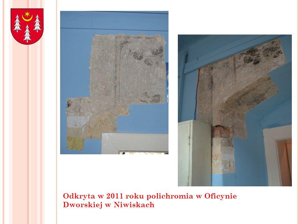 Odkryta w 2011 roku polichromia w Oficynie Dworskiej w Niwiskach