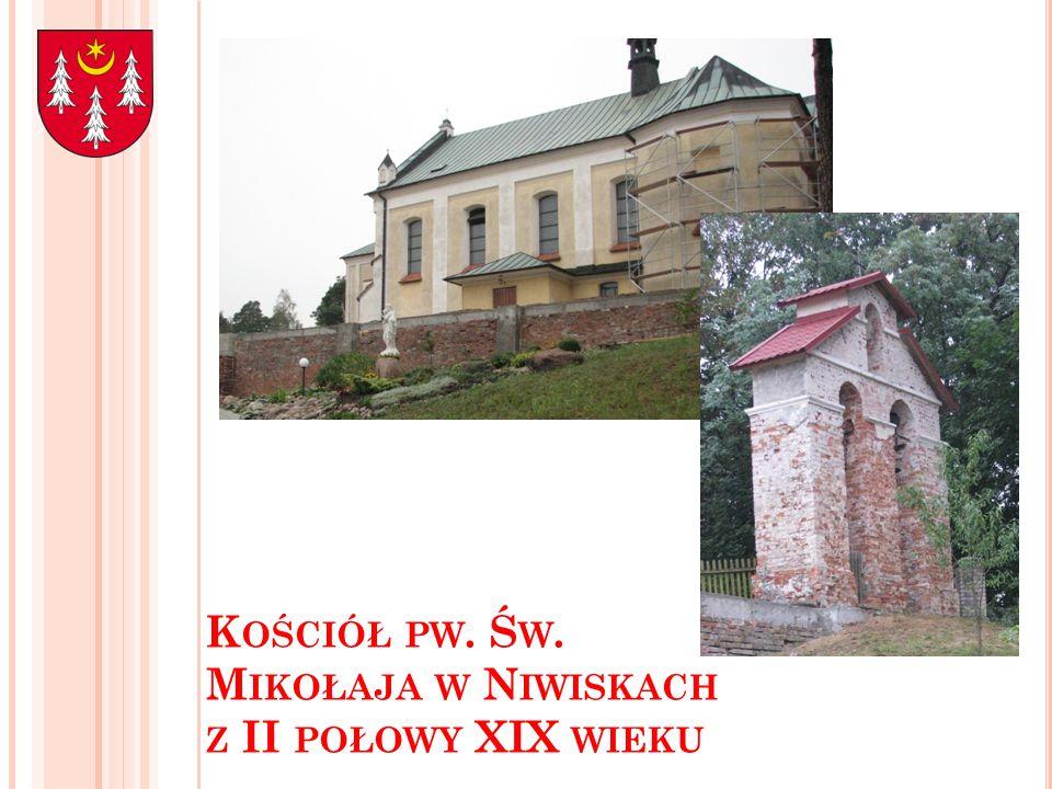 Kościół pw. Św. Mikołaja w Niwiskach z II połowy XIX wieku