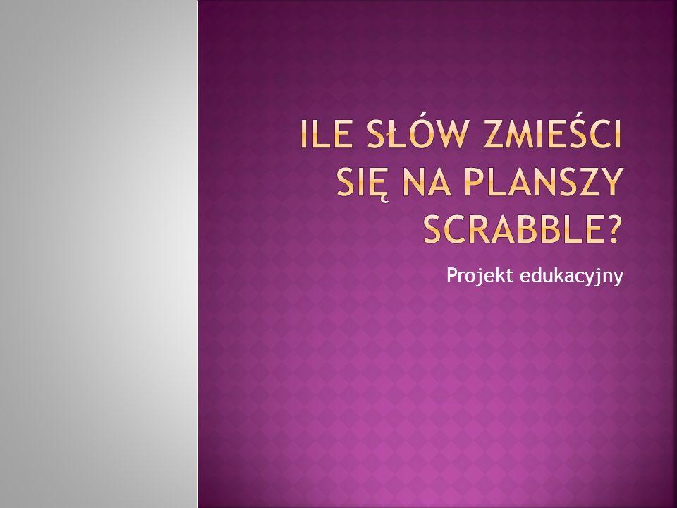 Ile słów zmieści się na planszy Scrabble