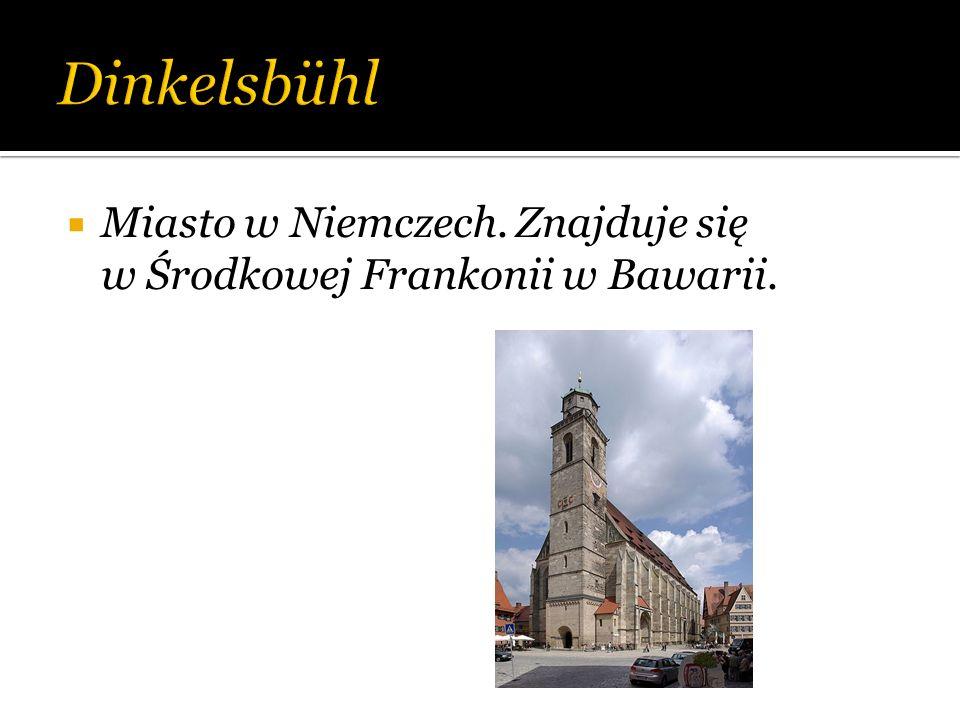 Dinkelsbühl Miasto w Niemczech. Znajduje się w Środkowej Frankonii w Bawarii.