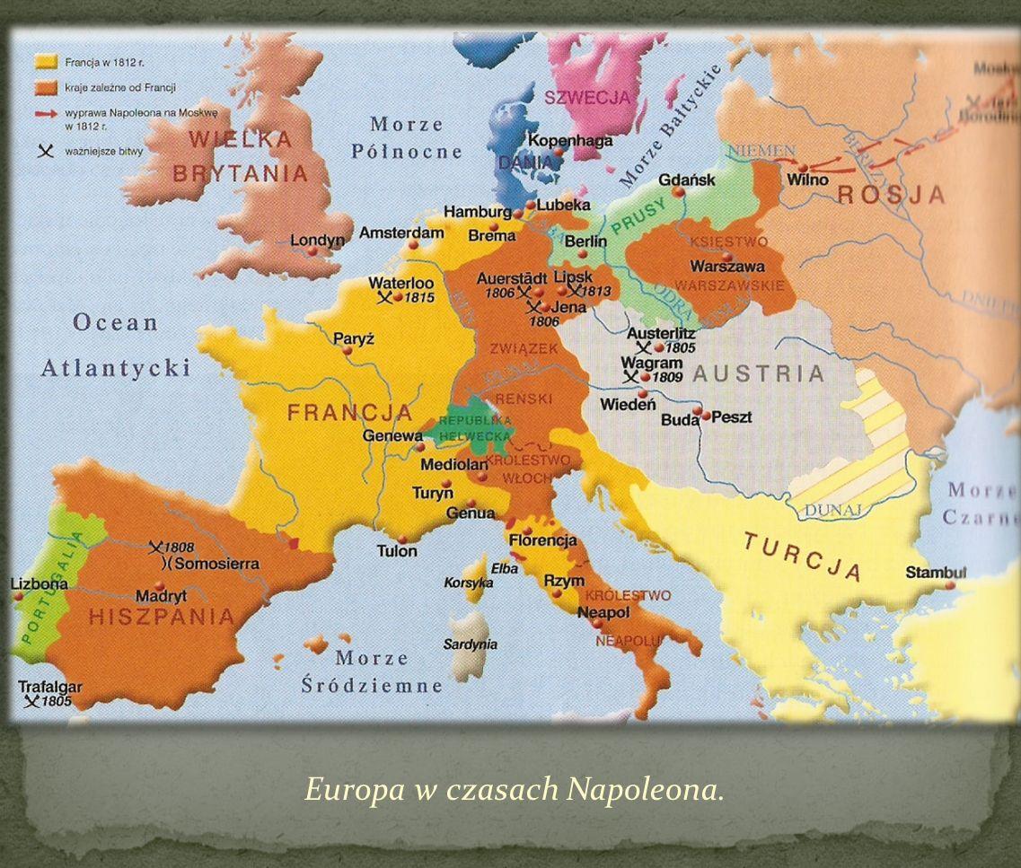 Europa w czasach Napoleona.