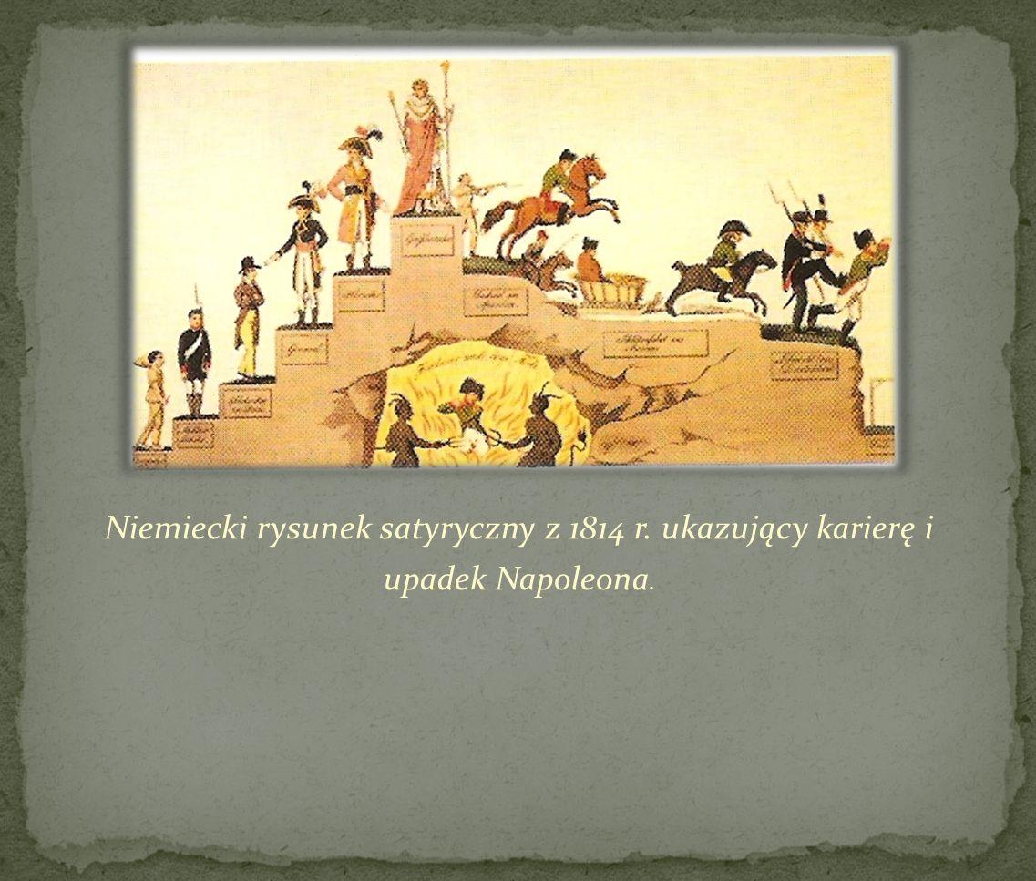 Niemiecki rysunek satyryczny z 1814 r