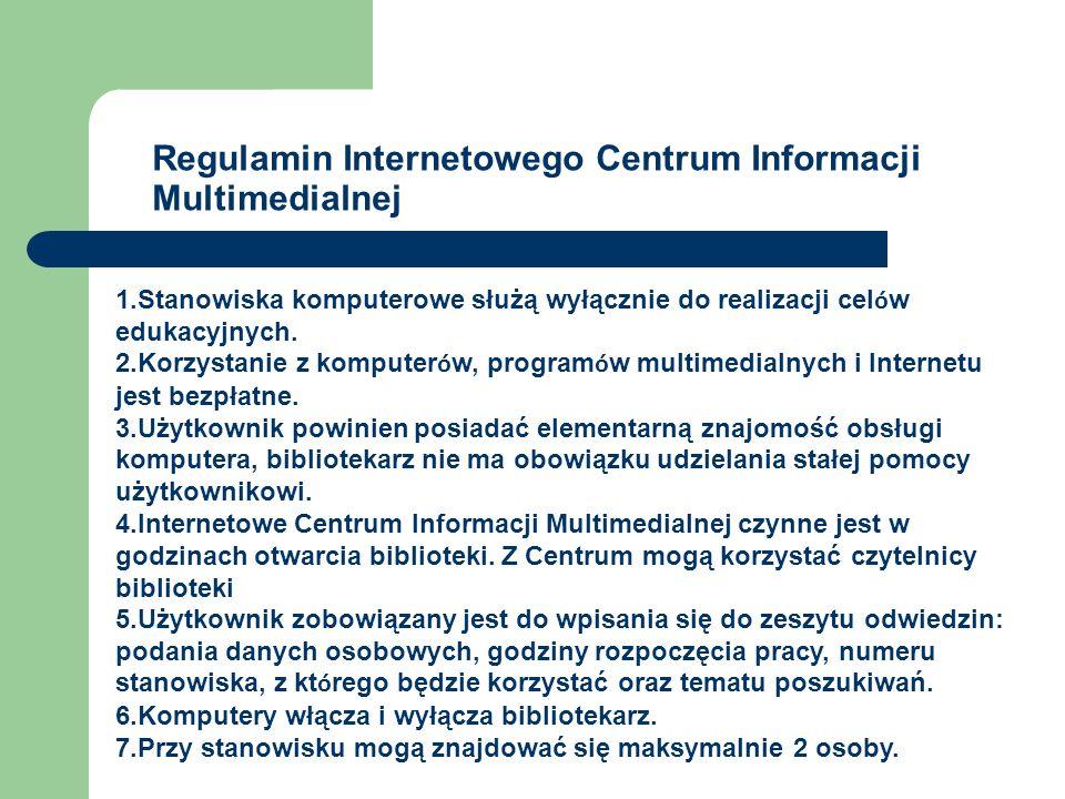 Regulamin Internetowego Centrum Informacji Multimedialnej