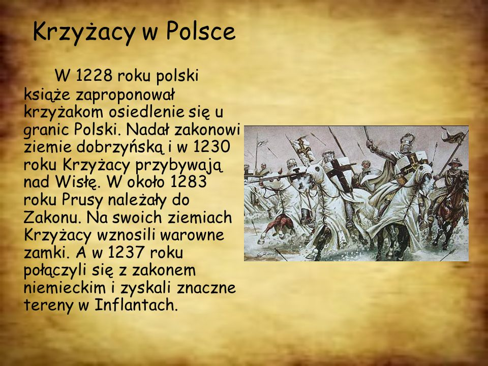 Krzyżacy w Polsce
