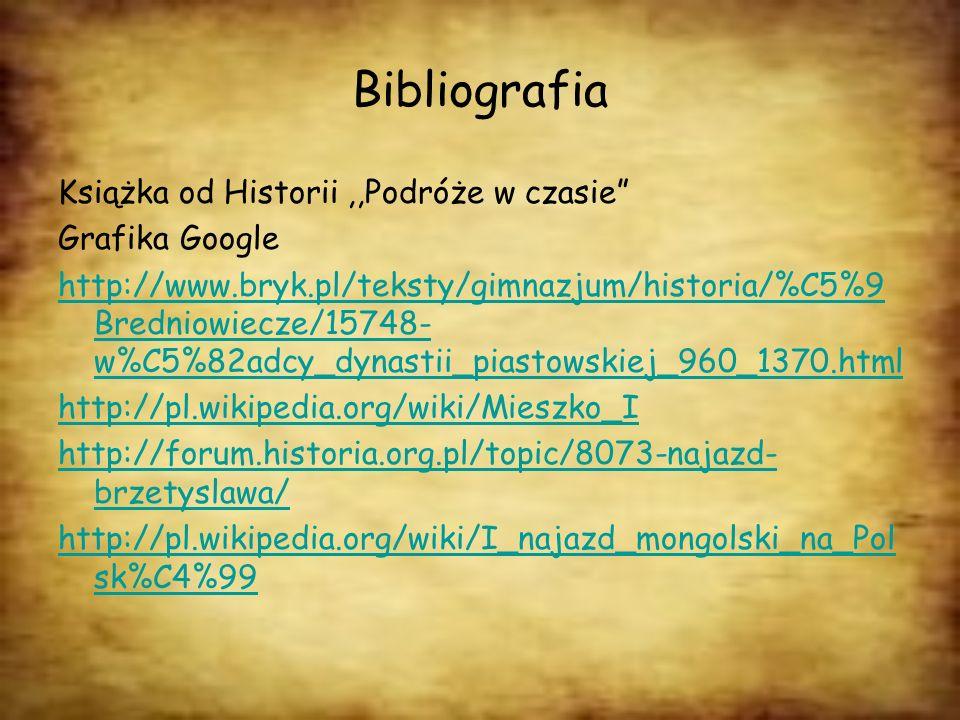 Bibliografia Książka od Historii ,,Podróże w czasie Grafika Google