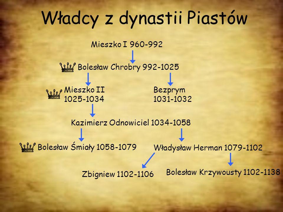 Władcy z dynastii Piastów