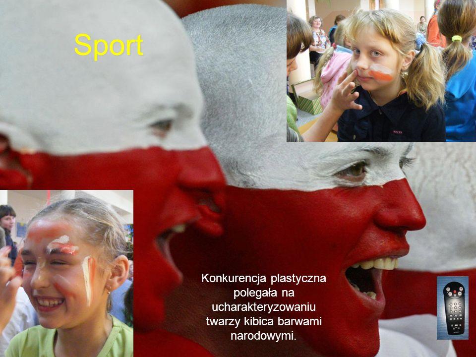 Sport Konkurencja plastyczna polegała na ucharakteryzowaniu twarzy kibica barwami narodowymi.