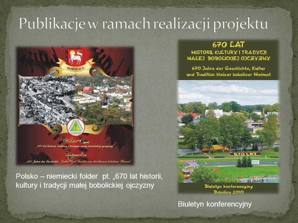 Publikacje w ramach realizacji projektu