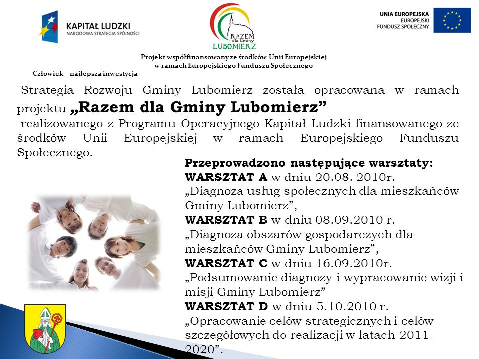 Przeprowadzono następujące warsztaty: WARSZTAT A w dniu 20.08. 2010r.