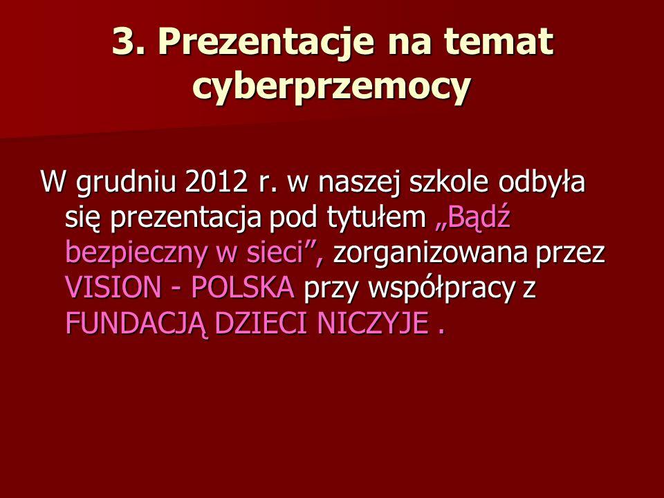 3. Prezentacje na temat cyberprzemocy