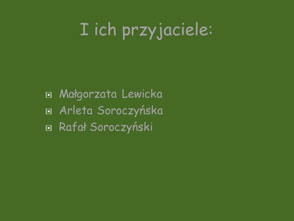Małgorzata Lewicka Arleta Soroczyńska Rafał Soroczyński