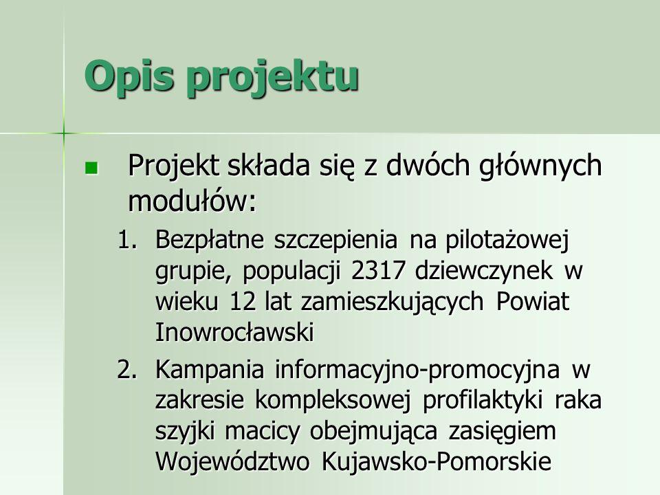 Opis projektu Projekt składa się z dwóch głównych modułów: