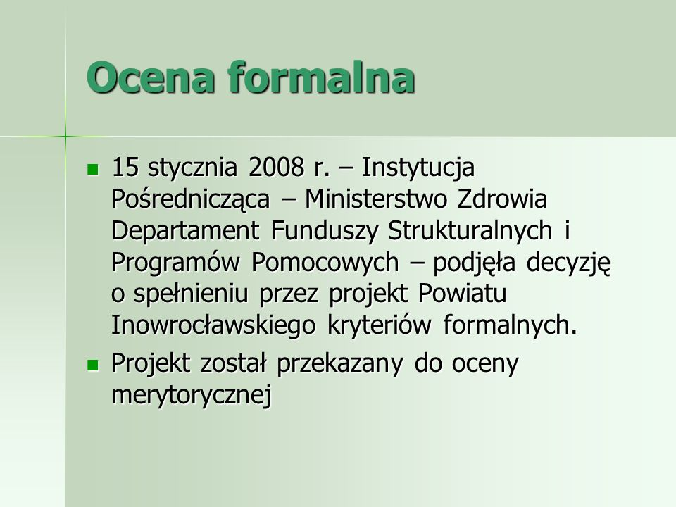 Ocena formalna