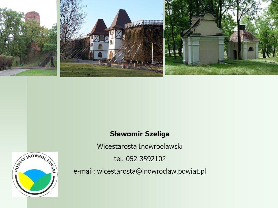Dziękuję za uwagę Sławomir Szeliga Wicestarosta Inowrocławski