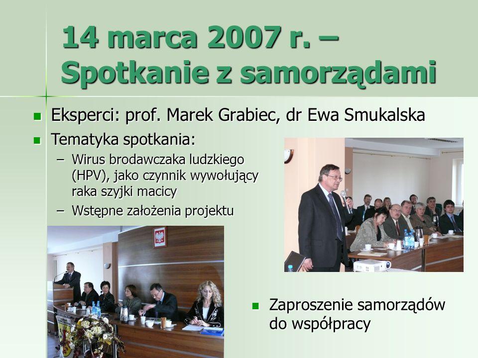 14 marca 2007 r. – Spotkanie z samorządami
