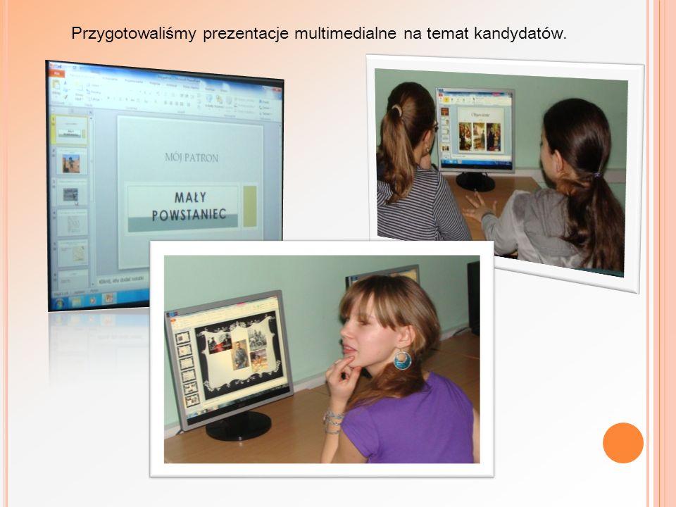 Przygotowaliśmy prezentacje multimedialne na temat kandydatów.