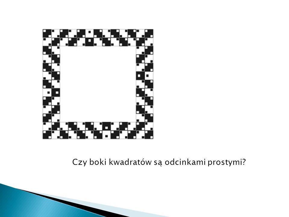 Czy boki kwadratów są odcinkami prostymi