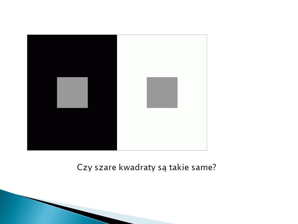 Czy szare kwadraty są takie same